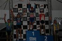 The U23 Poduim at MTB Nationals - Chloe Forsman from Luna Chics won, that's me in Health FX colors in 5th place!
